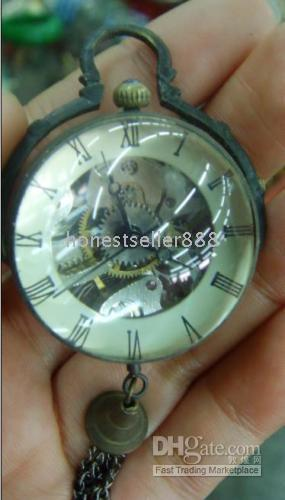 Wholesale collectable bronze crystal ball pocket watch works well