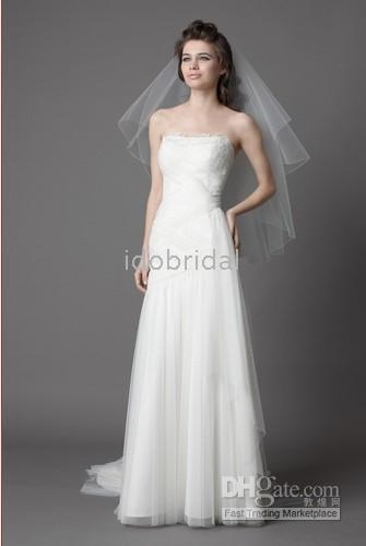 Wholesale Ivory sequined lace tulle and english net strapless quot criss cross shirred net bands wedding dress