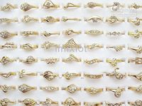 Wholesale Rings Jewelry Rings Jewellery High Quality CZ Gold Plated Rings CZ71