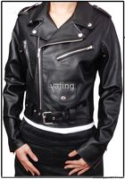 Wholesale Lady PU leather JACKET motorcycle jacket Black