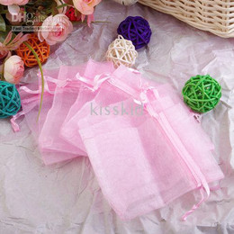 500 Pcs Pink Color Organza Gift Bag Wedding Favor Party Package Bags 9X12cm New