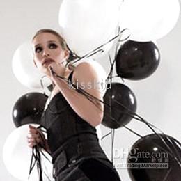 200 Pcs Latex Black & White Balloon Wedding Favor Party Decorations New