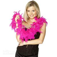 Wholesale 5 Fancy Dress Accessory Hot Pink Feather Boa Party Costume M