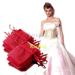 200 Pcs Wine Organza Bags Gift Bag Wedding Favor Party 9X12cm New