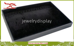 "jewelry tray jewelry stand 2 pieces 14"" large Jewelry display necklace tray in black"