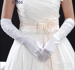 Wholesale TOP rated products wonderful off white white stain wedding bridal glovesST004