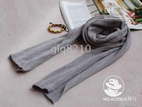 Wholesale Most Popular Long Style Shawls Solid Men s Scarves Temperament Couple Scarf Grey Color New
