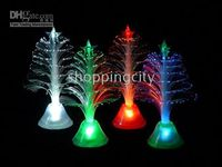Wholesale colors change optic Fiber Mini Christmas Tree