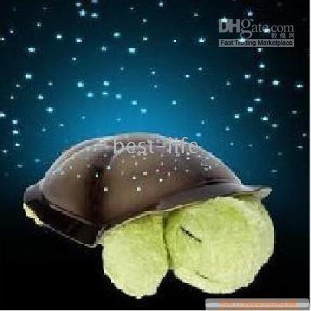 Wholesale 50pcs The world s best selling Cloud B Magic stars sleep little turtle Star Night Light lamp