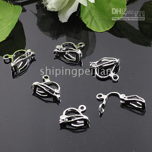 Wholesale Rhodium Plated Copper Earring Clip On Jewelry Findings MM x MM Easy To Clip No Need Ear Holes