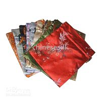 Wholesale Buy Wedding Bag Candy Bags Gift Bags Cheap High quality Silk Flower Drawstring Bag mix Free