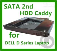 Wholesale New SATA SATA II nd HDD Caddy quot mm for DELL Inspiron D600 M M M M