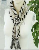 Wholesale 5pcs new women Knitting Mink Scarf Big Flower Mink Wraps Women s Fur Scarves warmly