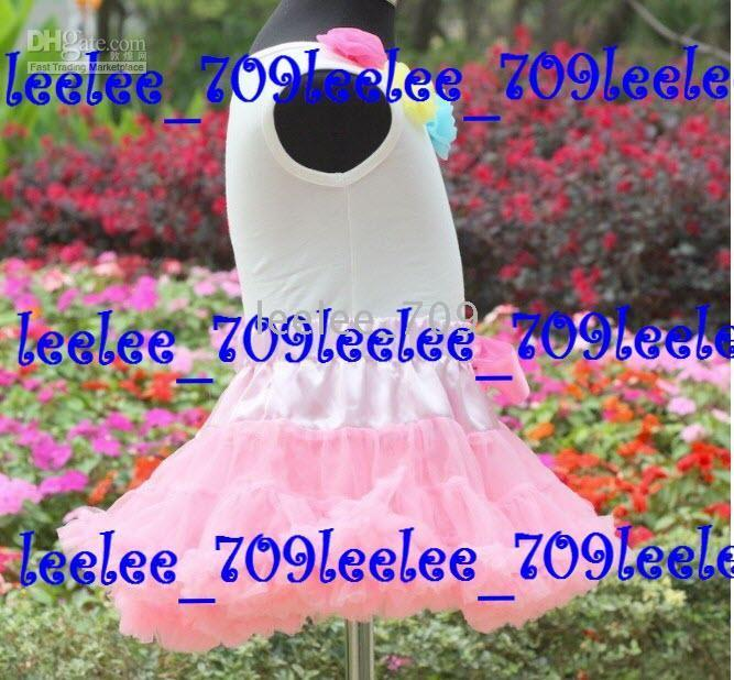 Girl pettiskirt set - PETTISKIRT SUITS SUITS girl s pink pettiskirt set pink pettiskirt with rainbow rosettes pettitop