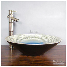 Wholesale Bamboo Basin Faucet Bamboo Vessel brass tap Bathroom archaize Faucet matched with china art basin perfectly