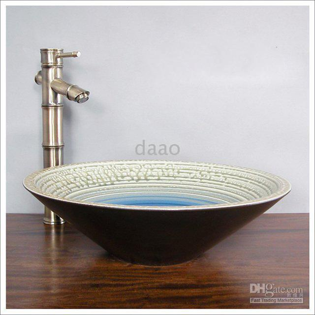 bamboo basin faucet - Bamboo Basin Faucet Bamboo Vessel brass tap Bathroom archaize Faucet matched with china art basin perfectly
