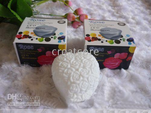 Wholesale Romantic heart shaped rose light Colorful lights rose white rose Cool LED Gadgets LED Decorations