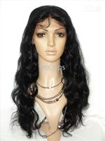 Wholesale 20 quot Remy Full Lace Wigs Body Wave Jet Black optiona Indian Human Long hair lace wig STOCK