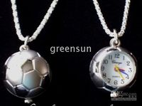 Wholesale Cool Soccer Ball Necklace Clock Watch C