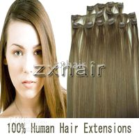 Wholesale custom sets quot Clip in hair Human Hair Extensions mix order g set