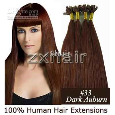 Wholesale custom s quot Nail tip remy hair Human Hair Hair Extensions mix g s