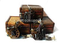 Wholesale 3PCS Micky SHIRPZ Style Tattoo machine Oil blued cast IRON Frame Tattoo Gun