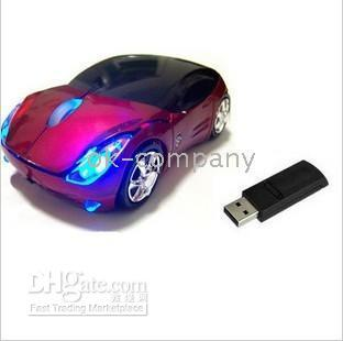 Wholesale 1pcs Sport CAR Wireless Mouse Mice For Laptop PC HOT directly from factory aan