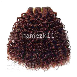 Wholesale kinky curl pure Human hair extension ready for shipping