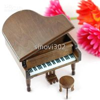 Wholesale Best Christmas Gift Piano Music Box Musical Box SANKYO Wooden Music Box