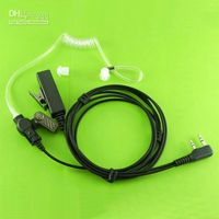 Wholesale 2 PIN Covert Acoustic Tube Earpiece for KENWOOD Radios KPG74D TK208 TK220 TH D7 C051