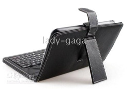 Wholesale Flip Leather case usb keyboard for inch netbook Tablet PC epad Q88 A23 A13 Samsung Galaxy tab