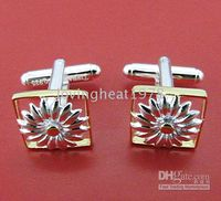 Wholesale fashion sterling silver Chrysanthemum cufflinks mixed