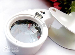 Wholesale 40X MM Folding Foldable LED Magnifier Magnifying Glass Jewelry Loupe