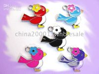 Wholesale 50pcs Bird Hanging Pendant Charms Fit Pet Dog Cat Collar or Phone strips