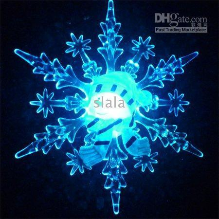 Wholesale snowflake snowman with RGB slow color changing light christmas gift light