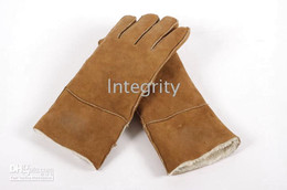 Mixed Colors 20pcs Lot brand available Men's   women's Real Sheepskin glove gloves with box
