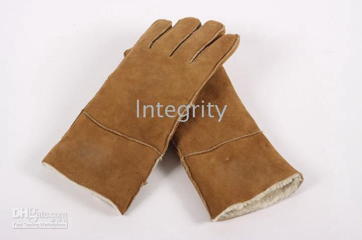 Wholesale Mixed Colors brand available Men s women s Real Sheepskin glove gloves with logo box