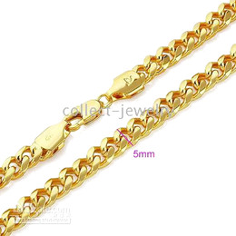 Men's 18k yellow gold filled necklace chain ytry y