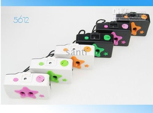 Wholesale Gift Toy LOMO Camera lens wide angle Film cam multi color Action battery free photograph
