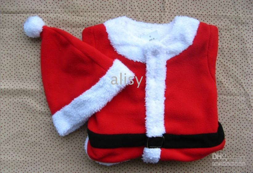 Wholesale Christmas Xmas decoration baby santa romper wear with hat clothing cloth one piece top rompers