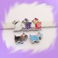 Wholesale 50pcs mm Dog Slide Charms Fit Pet Dog Cat Collar Phone strips Trinkets