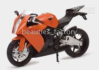 Wholesale Diecast KTM RC8 motorcycle model toy Orange