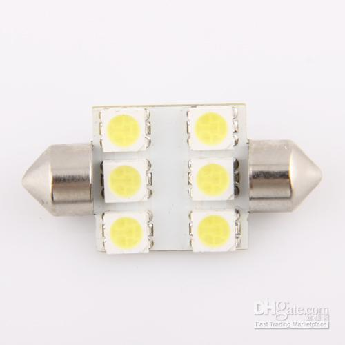 Wholesale White Festoon Dome mm SMD Car Light Bulb