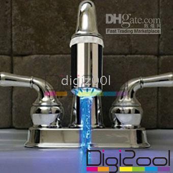 Wholesale Water Stream Temperature Sensitive LED Tap Faucet Light new hot