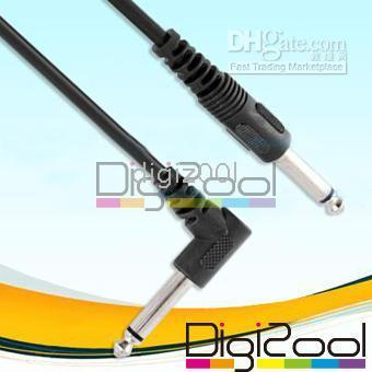 Wholesale 3m Guitar Patch Cable Effects Pedal Cords AMP Cord black NEW hot