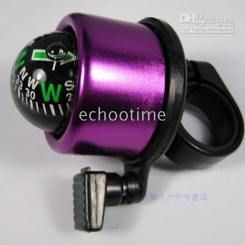 Bicicleta colorida bicicleta pequeña campana con una brújula 300pcs / lot