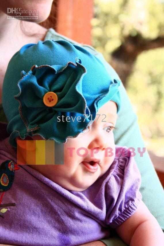 Wholesale Baby hats girls headband Skullcap barrette cap headdress hoody flower beanie hair pin berets CL868