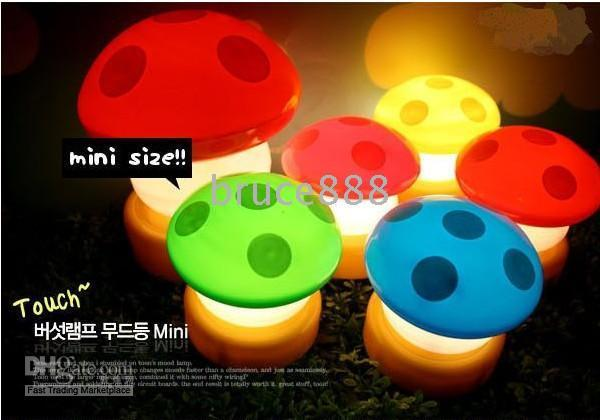 Wholesale Fashion LED lamp of small mushrooms child creative gift
