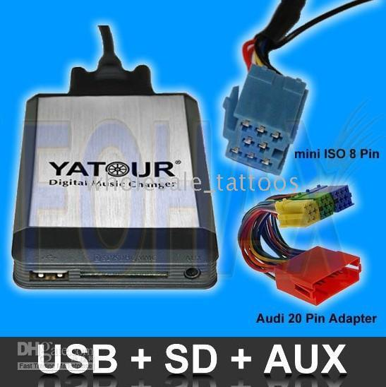 mini cd adapter - Car Digital CD Changer USB SD Interface Adapter for Audi factory radio mini ISO Pin P