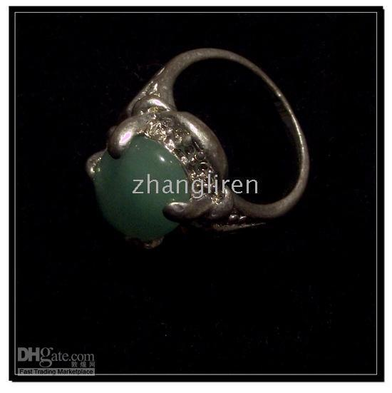 Middle Eastern faceted gemstones - Faceted Crystal Beads Brand new silver Gemstone Rings with Natural Jade and silver Ra